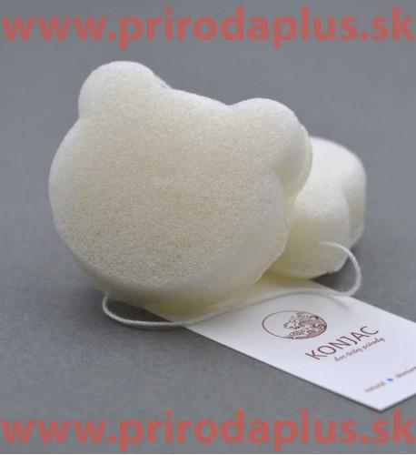 Základná biela špongia medvedík - 100 % prírodný organického koreň rastliny Konjac