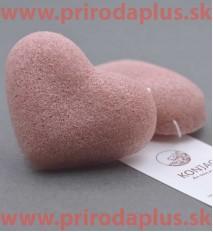 Ružová špongia srdiečko - 100 % prírodný organického koreň rastliny Konjac