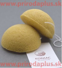 Žltá, kurkuma špongia ovál - 100 % prírodný organického koreň rastliny Konjac